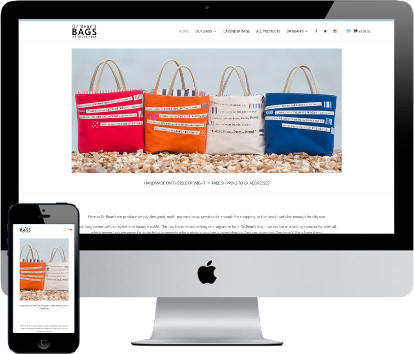 Dr Bean's Bags by Vivid Websites