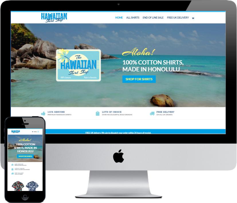 Hawaiian Shirt Shop by Vivid Websites