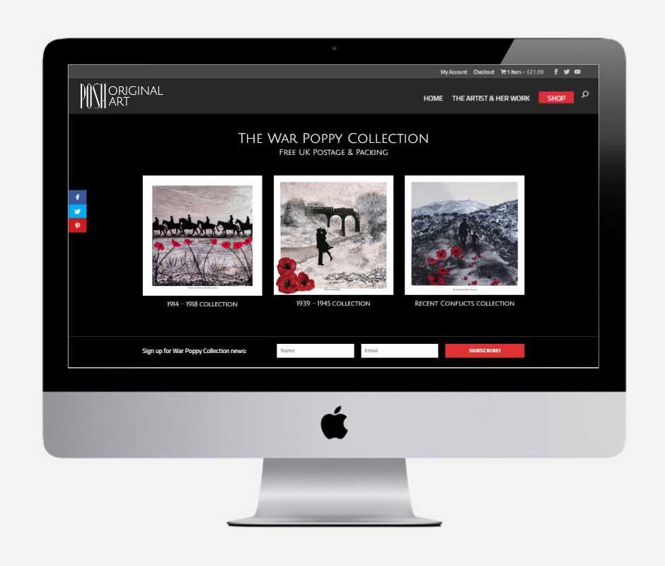 POSH Original Art, Bournemouth - by Vivid Websites