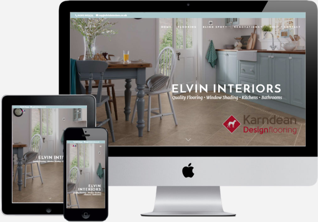 Elvin Interiors - by Vivid Websites