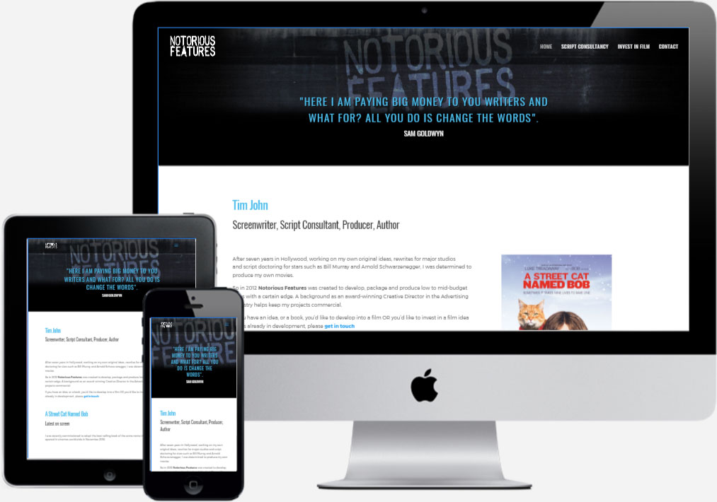 Notorious Features - by Vivid Websites