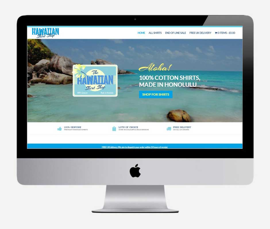 Hawaiian Shirt Shop - by Vivid Websites, Bournemouth