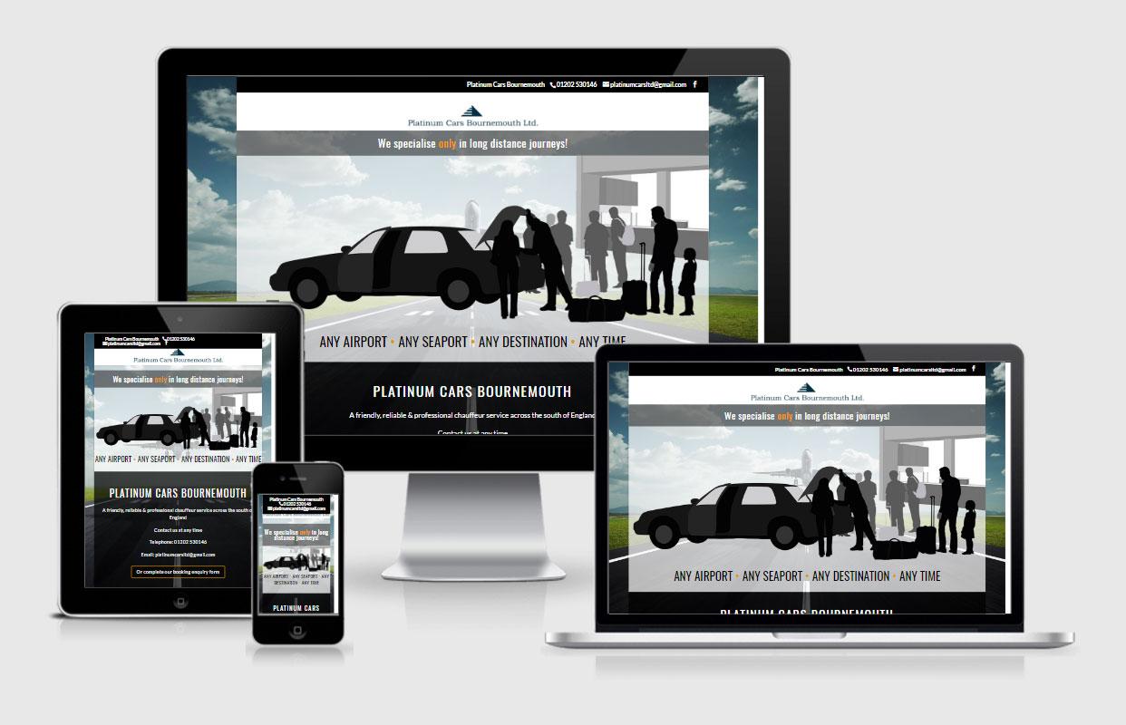 Platinum Cars, Bournemouth - by Vivid Websites