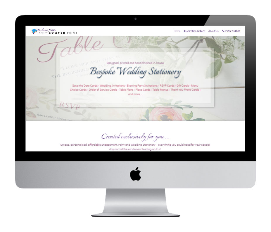 Dorset Wedding Stationery Bournemouth - by Vivid Websites